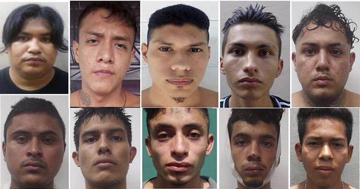 Estos son los 10 pandilleros que se fugaron anoche de una Bartolina de Apopa
