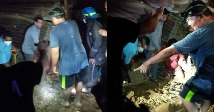 Rescatan con vida a dos personas que quedaron soterradas en Izalco