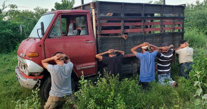 Capturan a 5 hombres luego que robaran ganado en San Miguel