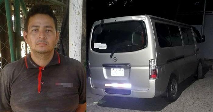 Ubican por cámaras de vídeovigilancia a hombre que se robó un microbús en Soyapango