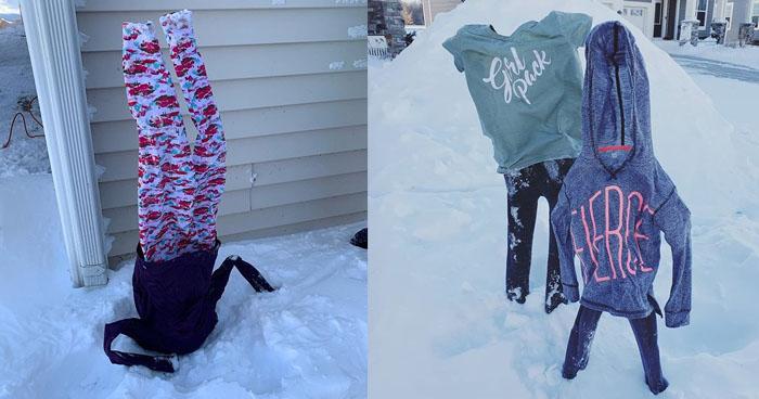 Imágenes de ropa congelada se vuelven virales en la redes sociales por ola de frío en EE.UU.
