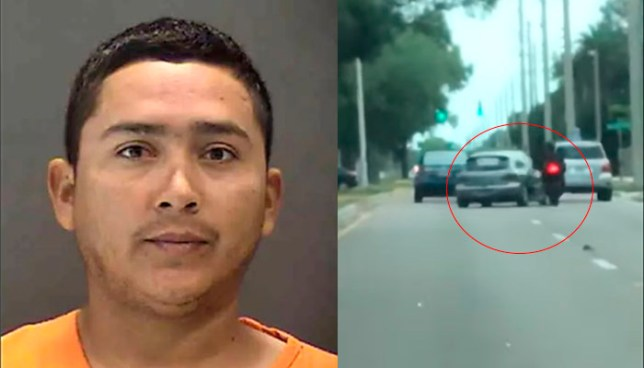 Salvadoreño, que vivía ilegal en EE.UU, fue capturado por arrollar intencionalmente a un motociclista
