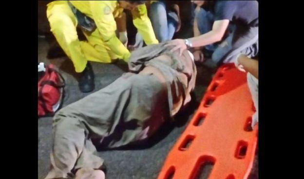 Anciano resulta lesionado tras un choque en Ciudad Arce