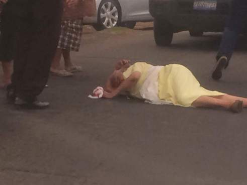 Anciana lesionada y hombre fallecido en accidente de transito
