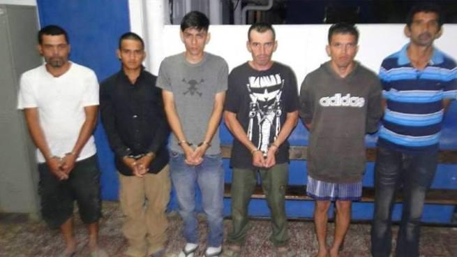 Capturan a seis sujetos vinculados al delito de homicidio en Chalatenango