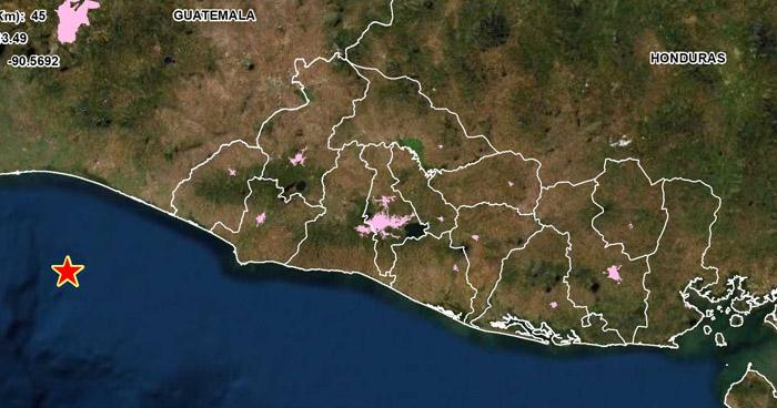 Sismo de 4.2 sacude parte de la zona costera del país