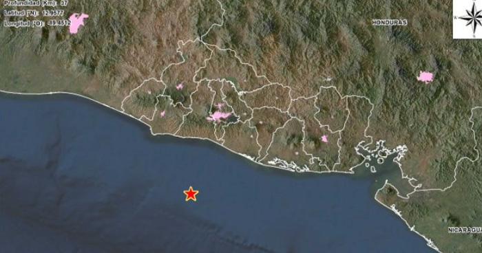 Sismo en la costa de La Libertad, sacude parte del país esta noche