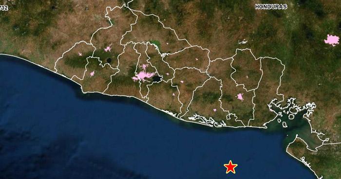 Leve sismo sacudió esta tarde la costa de Usulután