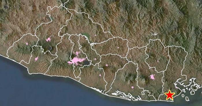 Dos sismos sacuden el oriente de El Salvador esta mañana