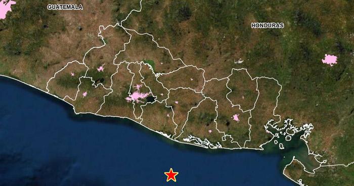 Sismo de 4.2 sacudió esta mañana la costa de Usulután