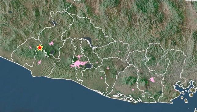 Sensible sismo de 4.1 grados en Ahuachapan, sacude el occidente del pais