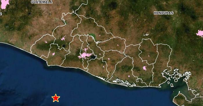Sismo de 3.7 sacudió esta mañana territorio salvadoreño