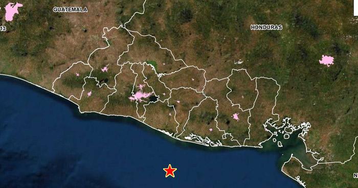 Sismo 3.9 sacudió este sábado la costa de San Vicente