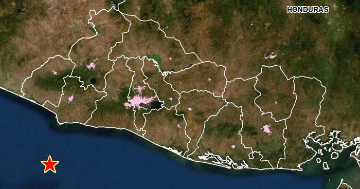 Sismo de 4.0 sacudió esta mañana la costa de Sonsonate