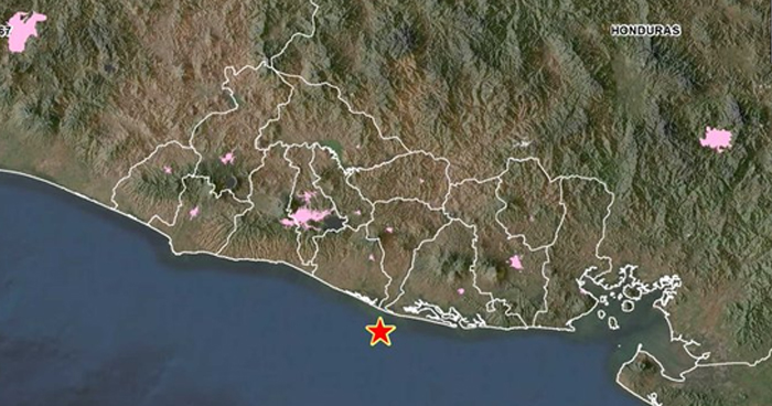 Sismo de 3.6 se registró esta madrugada frente a la costa de San Vicente
