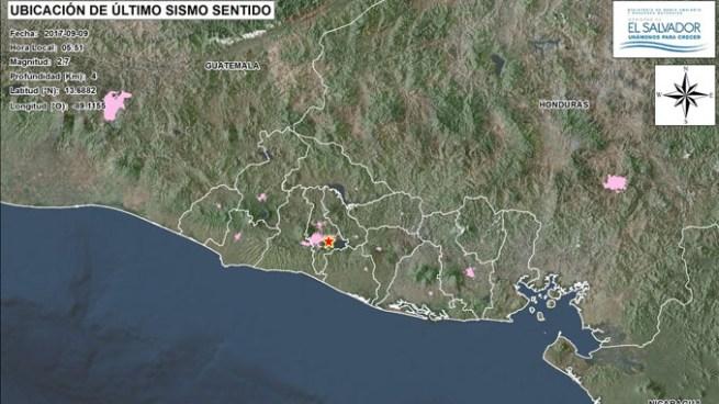 Sismo de 2.7 despierta a El Salvador este sábado