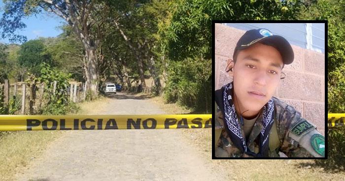 Soldado fue asesinado por pandilleros en Chilanga, Morazán