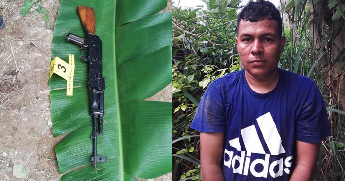 Encuentran un Ak-47 en caleta fabricada por pandilleros y capturan a un cabecilla en Nejapa