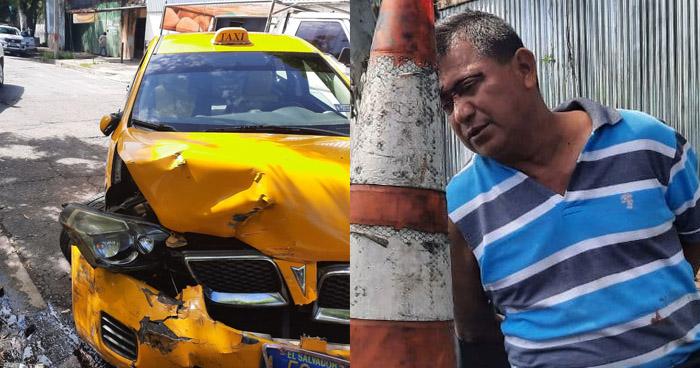 Taxista ebrio provoca choque en San Jacinto