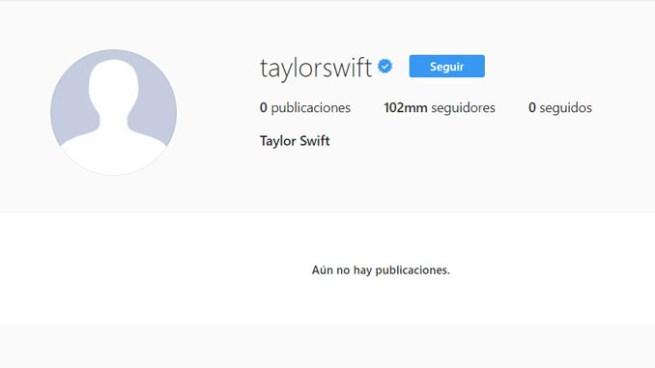 Taylor Swift desaparece de todas sus redes sociales