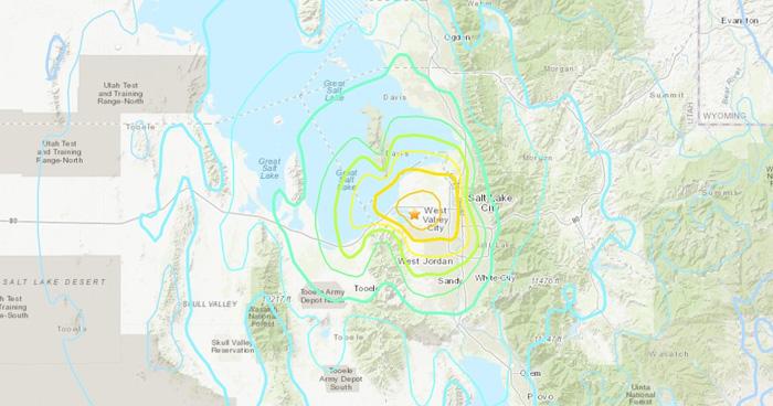 Sismo de magnitud 5.7 sacude al estado de Utah, en Estados Unidos
