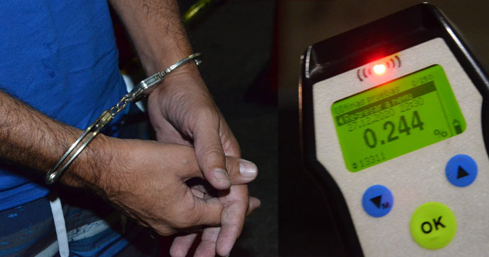 Más de 50 conductores ebrios detenidos en primeros 15 días de diciembre