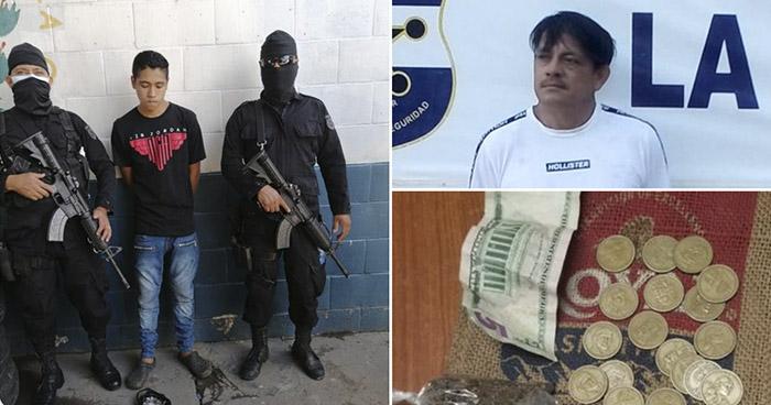Capturan a dos distribuidores de droga que operaban en San Salvador y La Paz