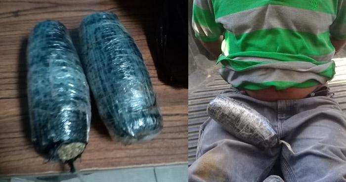 Interceptan a hombre cuando transportaba paquetes de droga