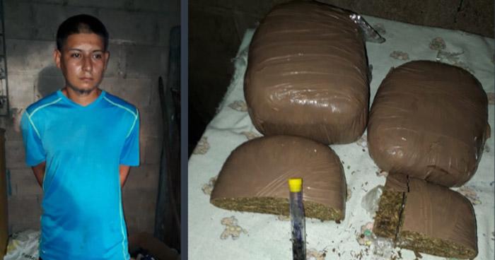 Capturan a traficante de droga en Chalatenango