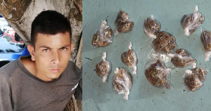 Pandillero distribuía droga en Sonsonate