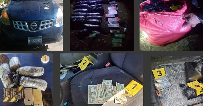 Incautan marihuana, cocaína y crack durante allanamiento en Metapán