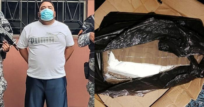 Capturado con abundante droga y armas en San Salvador