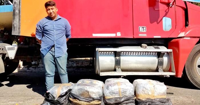 Ocultaba 70 libras de marihuana en cabezal en Frontera Las Chinamas