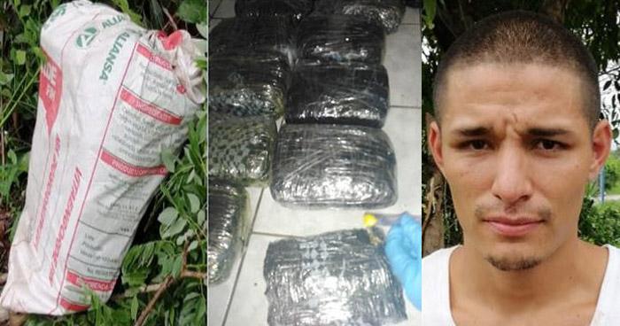 Incautan 10 paquetes de marihuana en Ahuachapán