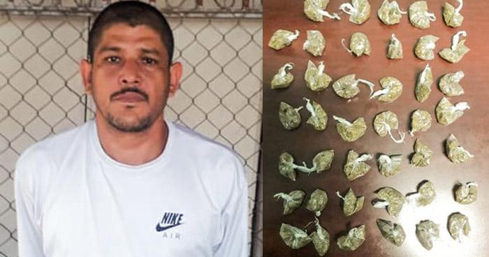 Capturado con más de 40 porciones de marihuana en Santa Ana