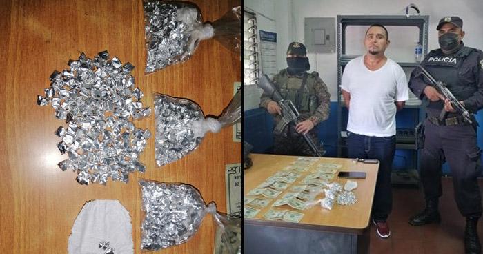Capturado con 500 porciones de crack y más de $200 en efectivo en Soyapango