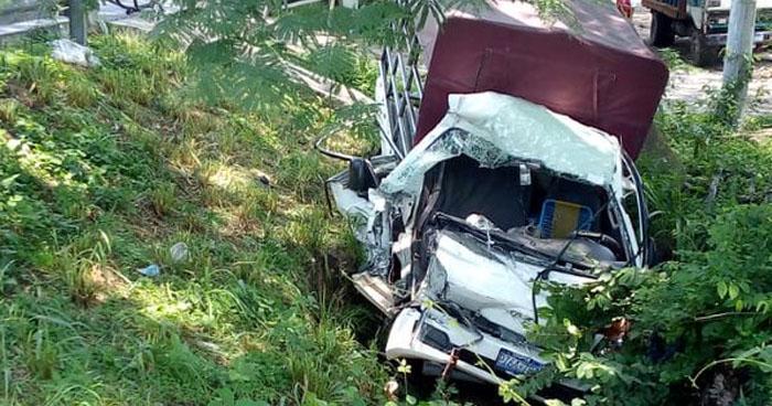 Triple choque en carretera Longitudinal del Norte deja tres lesionados