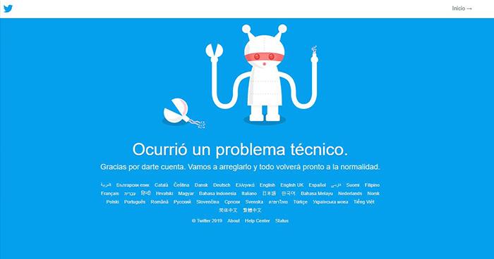 Twitter presenta fallas en varias partes del mundo