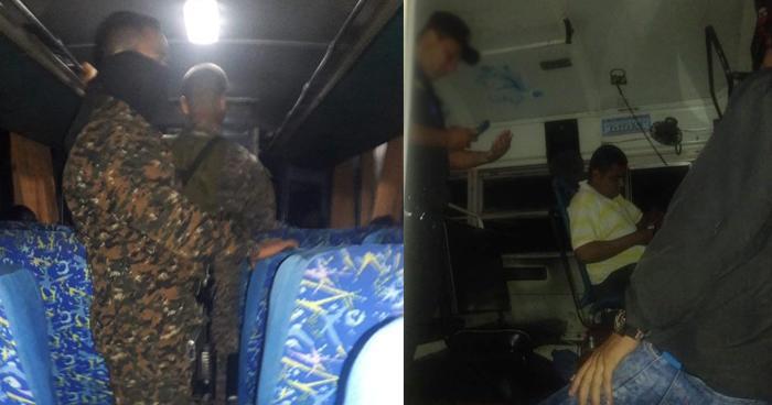 Policías y militares abordan unidades de transporte público para contrarrestar asaltos