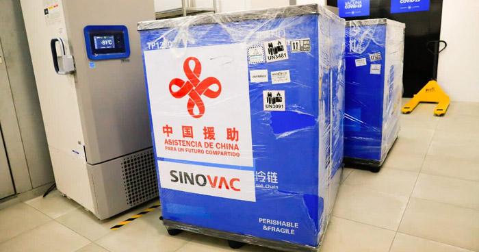 El Salvador recibe 150 mil vacunas contra COVID-19 donadas por China