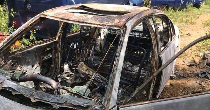Encuentran el cadáver calcinado de un hombre al interior de un vehículo, en Usulután