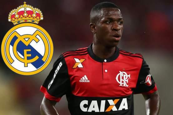 Real Madrid hace oficial el fichaje de la joya brasileña Vinicius Junior