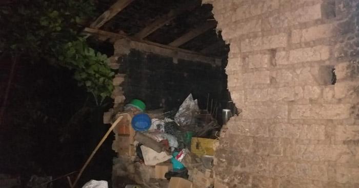 Dos familias evacuadas y derrumbes, entre las afectaciones por lluvias de las últimas horas