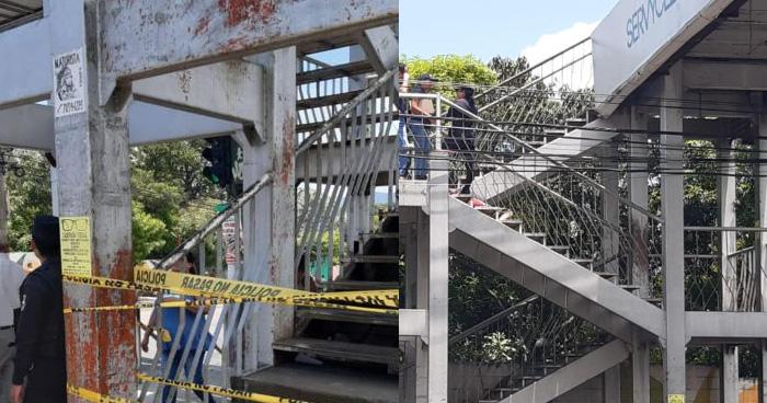 Hombre muere cuando subía una pasarela en la colonia Zacamil