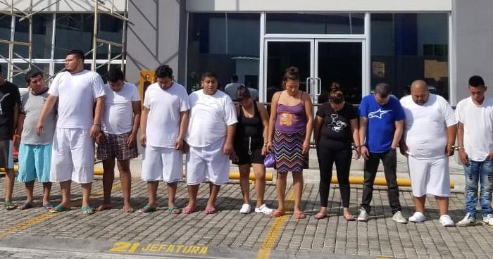Doce capturados tras operativo en Zacatecoluca