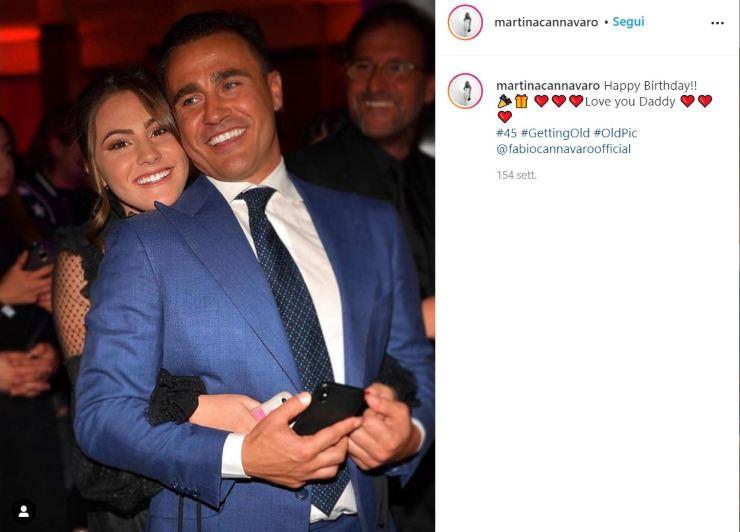 Fabio Cannavaro figlia Martina - Solonotizie24