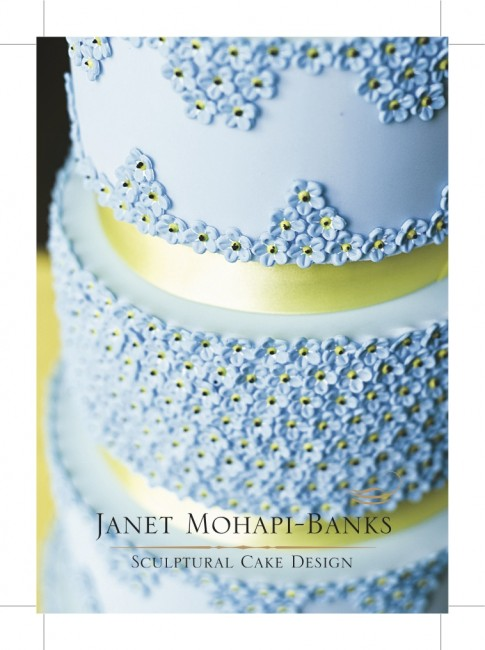 A6 Matt Laminated Flyers printed by Solopress for luxury cake designer Janet Mohapi-Banks