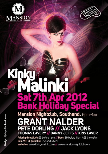 Club poster printing by Solopress for Mansion Kinky Malinki April 2012