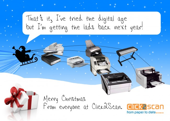 Christmas Cards printed by Solopress for Click2Scan - front