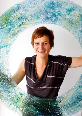 Jo Downs world class handmade glass designer in Solopress Printing Spotlight